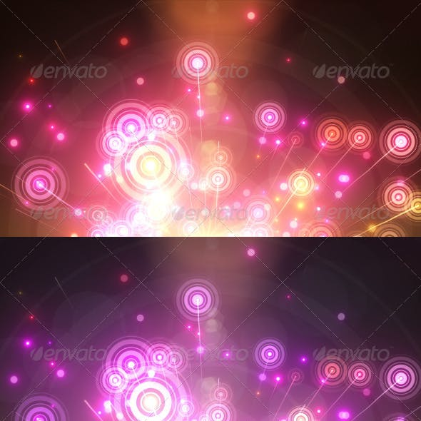 Abstract Rainbow Circles Backgrounds