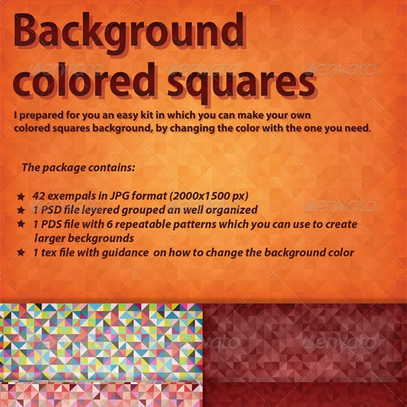 Background Colored Squares