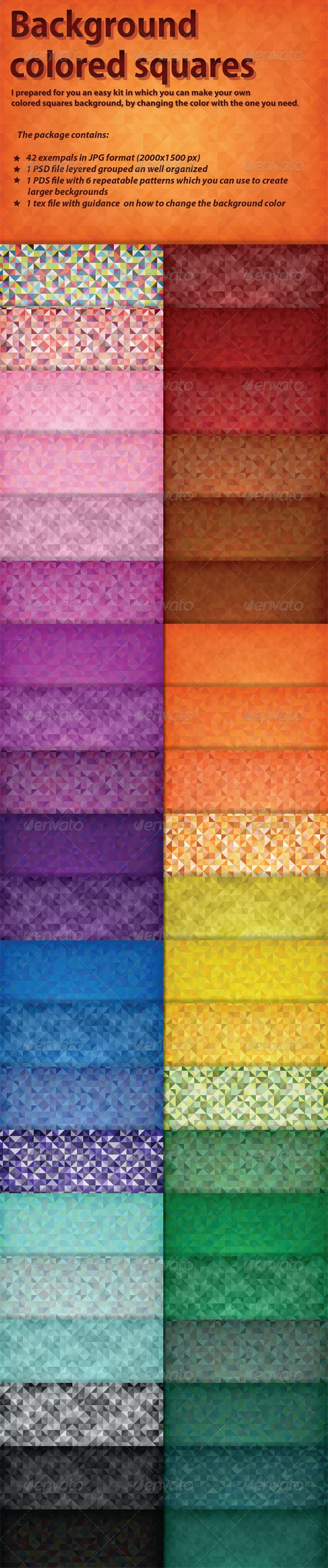 Background Colored Squares - Patterns Backgrounds