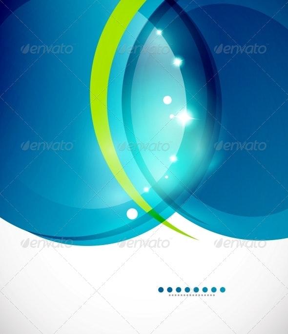 Detailed Blue Wavy Background - Backgrounds Decorative