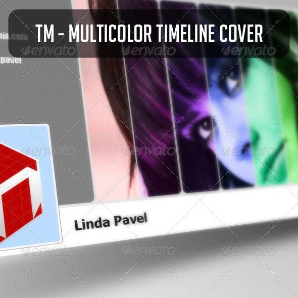 TM - Multicolor Timeline Cover - Facebook Timeline Covers Social Media