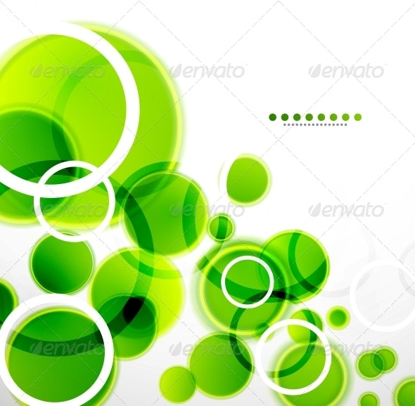 Abstract Shapes Background - Green Bubbles - Backgrounds Decorative