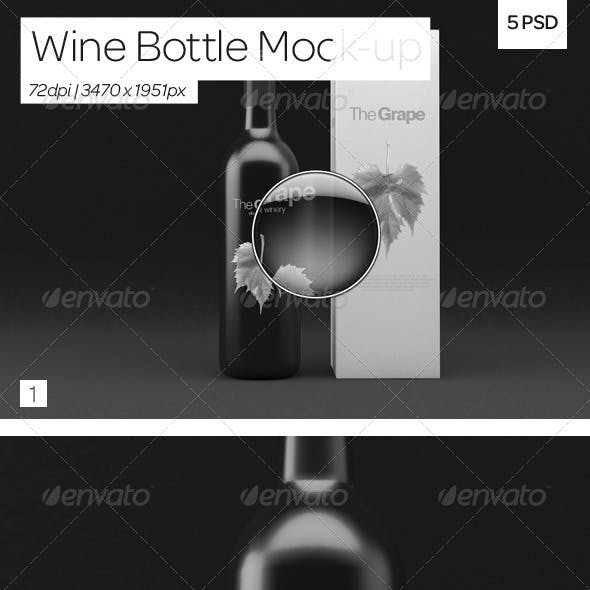 Wine Bottle Packaging Mock-Up