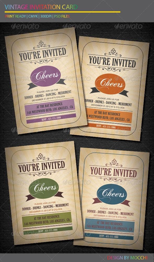 Vintage Invitation Card - Invitations Cards & Invites