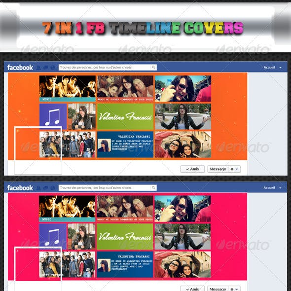 7 in 1 FB Timeline Covers