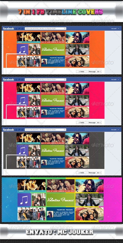 7 in 1 FB Timeline Covers  - Facebook Timeline Covers Social Media