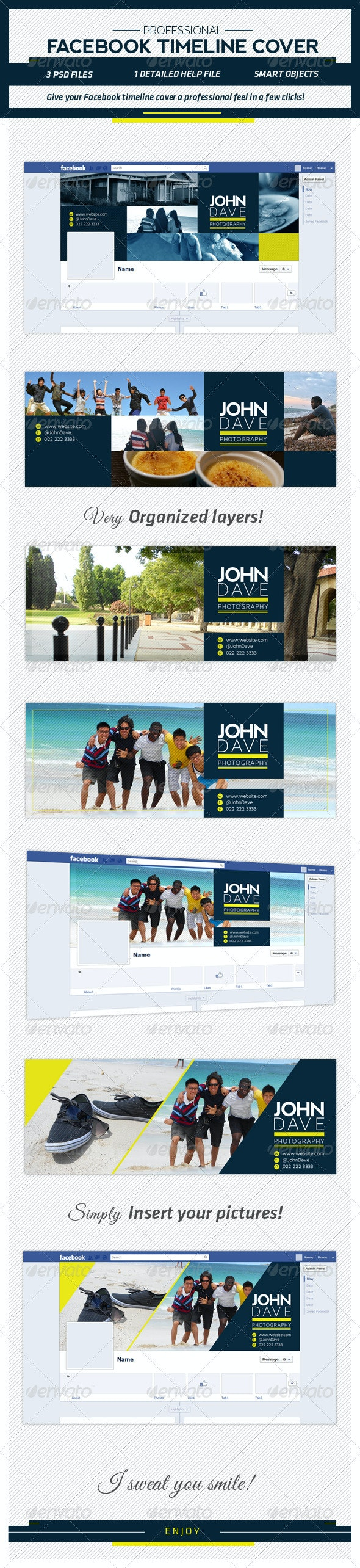 Professional FB Timeline Template - Facebook Timeline Covers Social Media