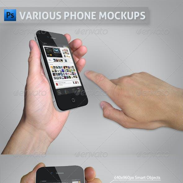 Various Phone Mockups
