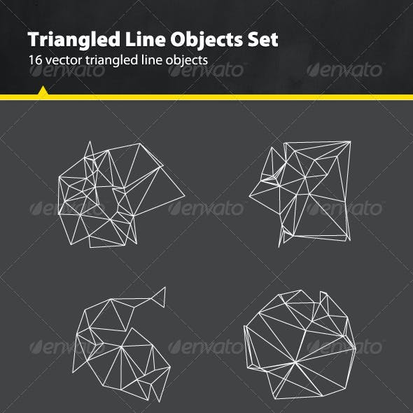 Triangled Line Objects Set