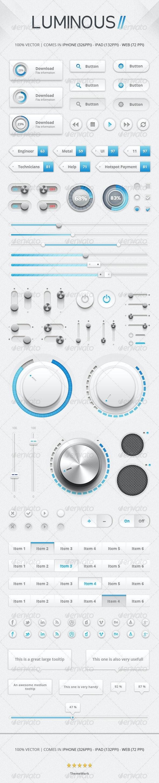 Luminous II UI Kit - User Interfaces Web Elements