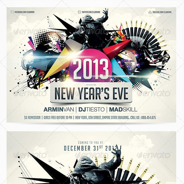 2013 New Years Eve Party Flyer Vol.2