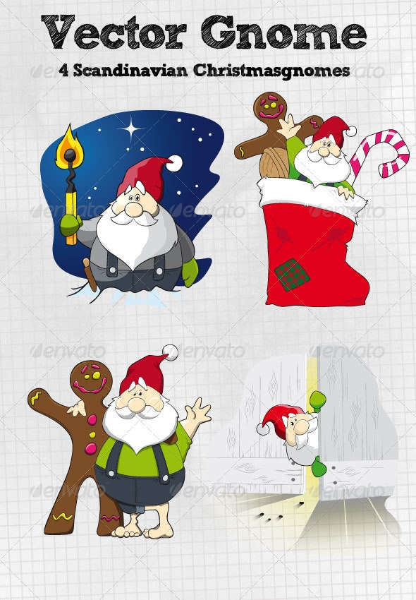 Christmas Gnome - Characters Vectors
