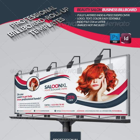 Beauty Salon Business Billboard Roll-up