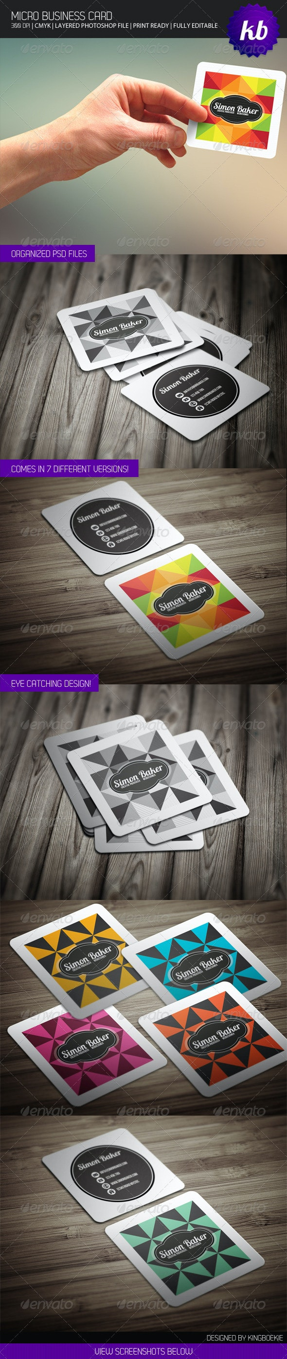 Micro Business Card - Creative Business Cards