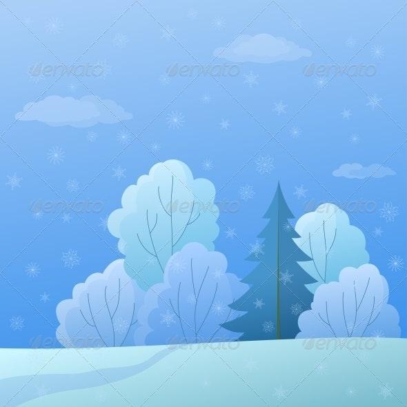 Winter Forest Landscape - Landscapes Nature