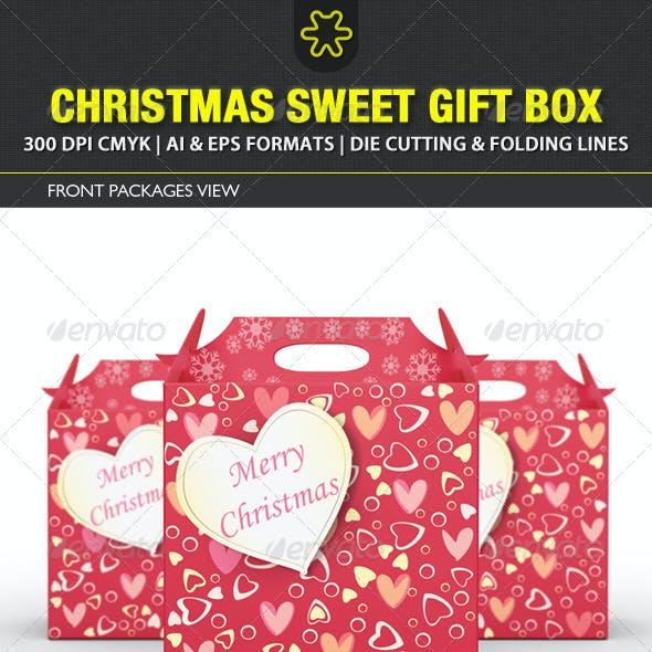 Christmas Sweet Gift Box Template