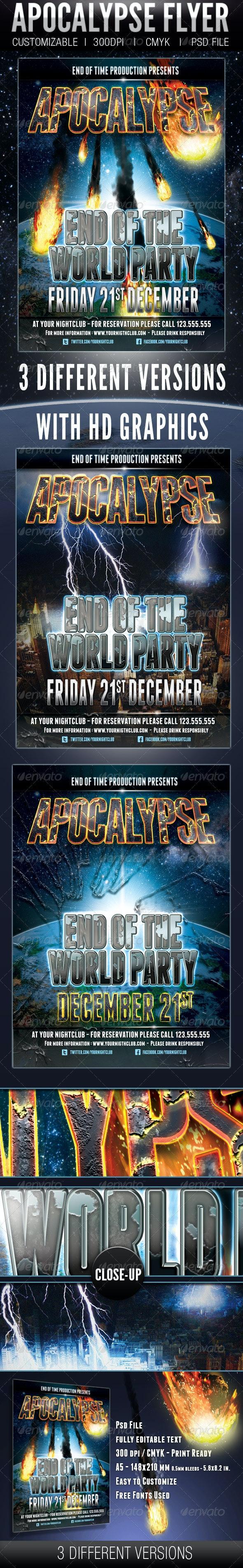 Apocalypse Flyer - Clubs & Parties Events