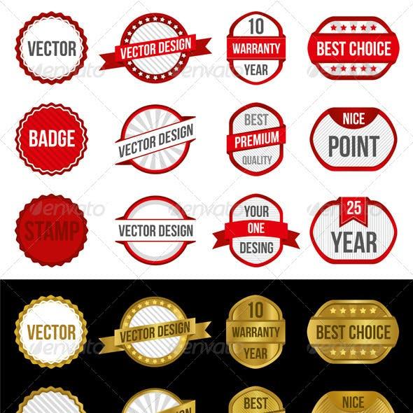 Badges & Labels Vectors