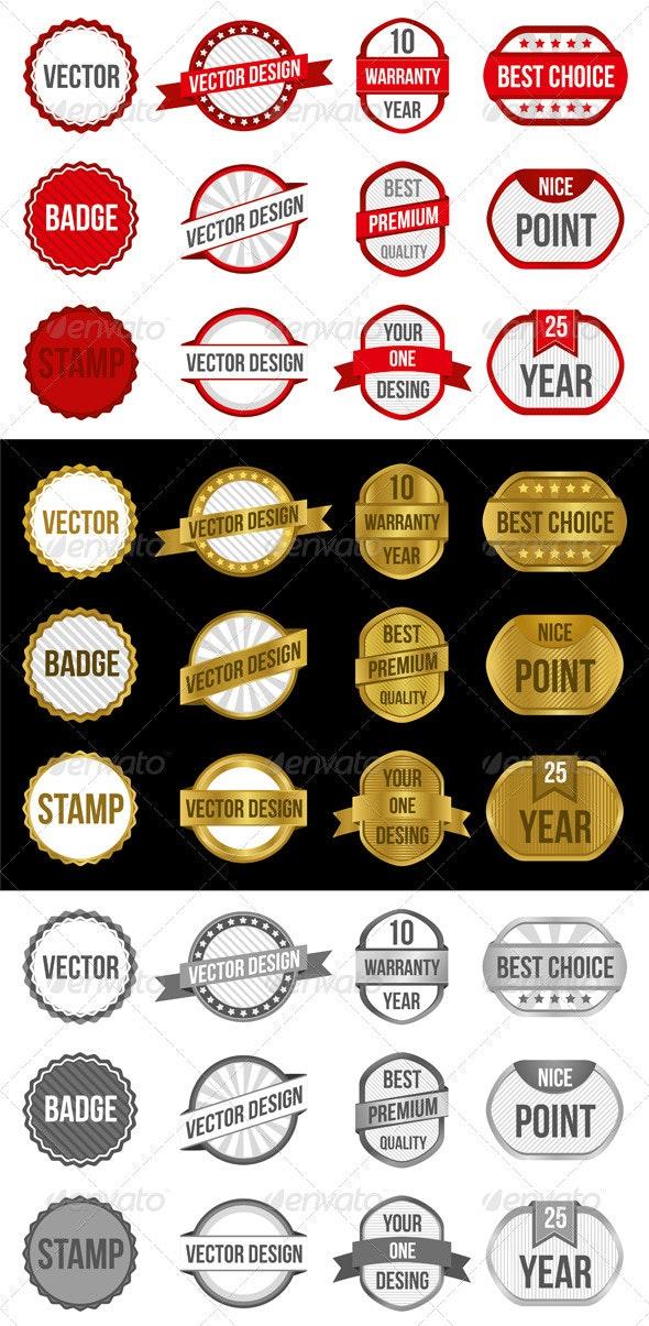 Badges & Labels Vectors - Decorative Symbols Decorative