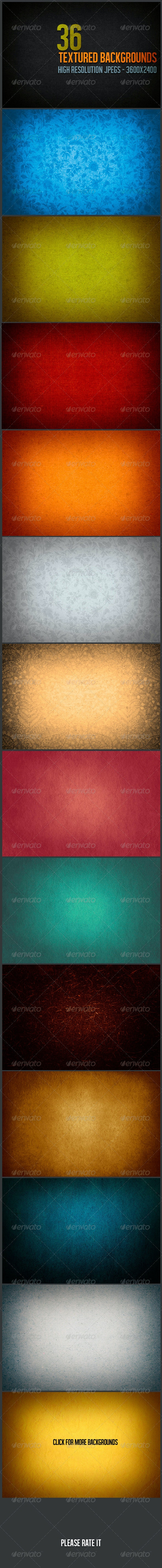 36 Textured Backgrounds - Backgrounds Graphics