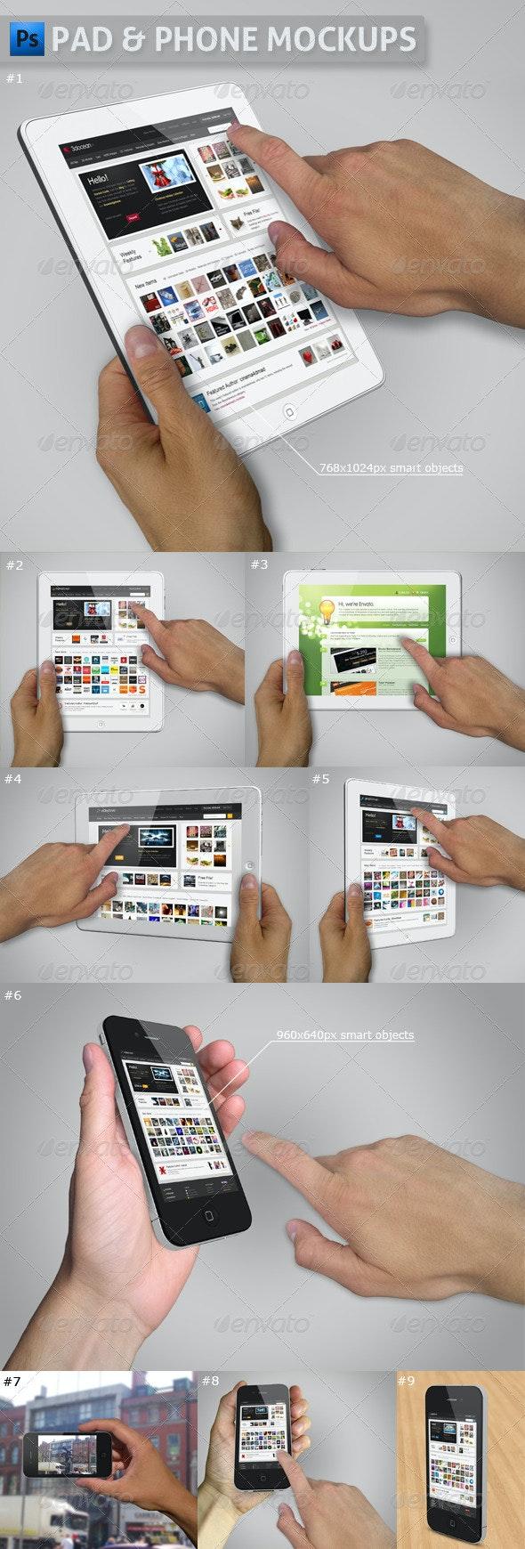 Pad and Phone Mockup Bundle - Multiple Displays