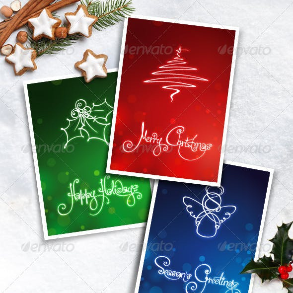 Three Christmas Cards & Banners