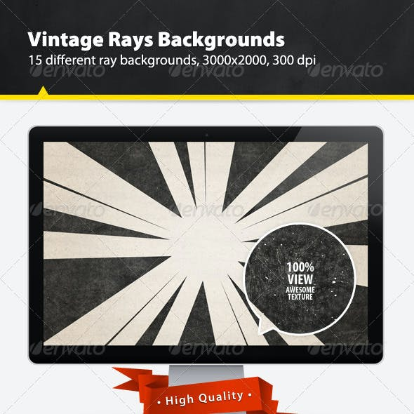 Vintage Rays Backgrounds