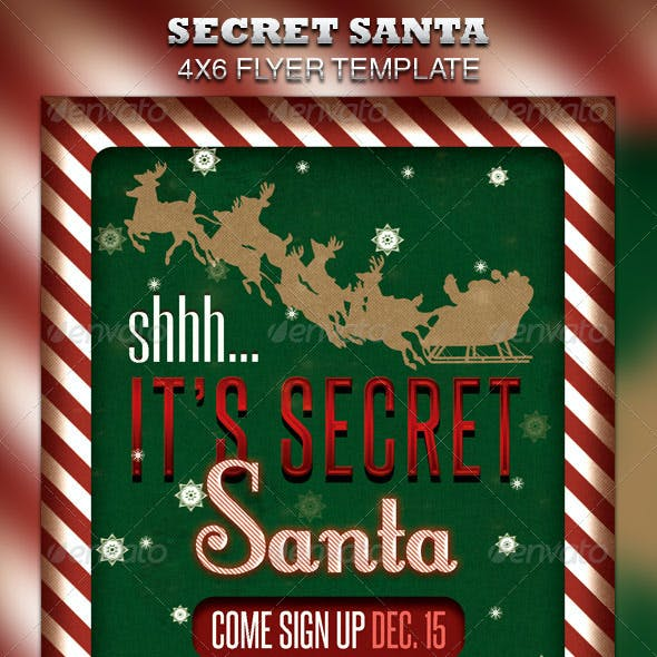 Secret Santa Flyer & Raffle Ticket