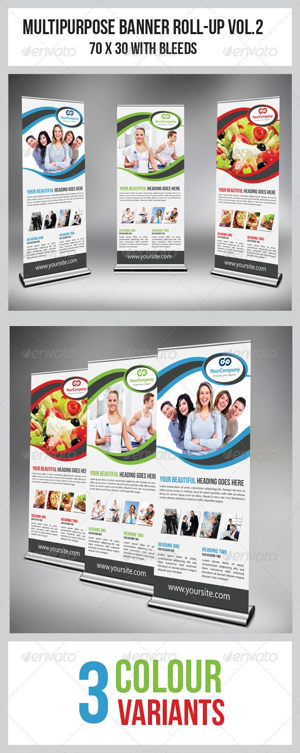 Multipurpose Business Roll-Up Vol.2 - Signage Print Templates