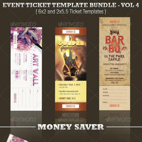 Event Ticket Template Bundle Volume 4