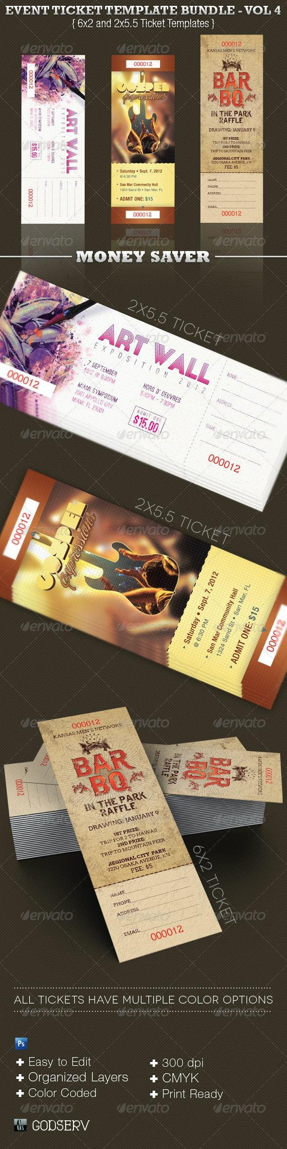 Event Ticket Template Bundle Volume 4 - Miscellaneous Print Templates