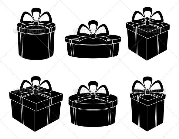 Gift Box Silhouettes Set - Seasons/Holidays Conceptual