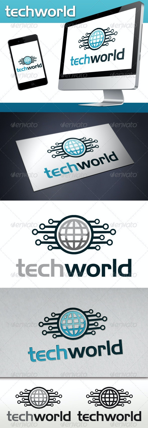 Tech World Logo Template - Symbols Logo Templates