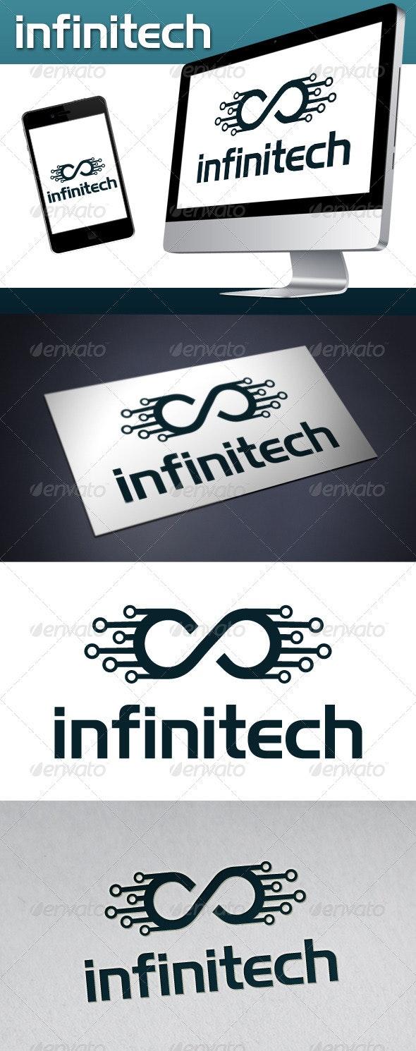 Infinite Tech (Infinitech) Logo Template - Symbols Logo Templates