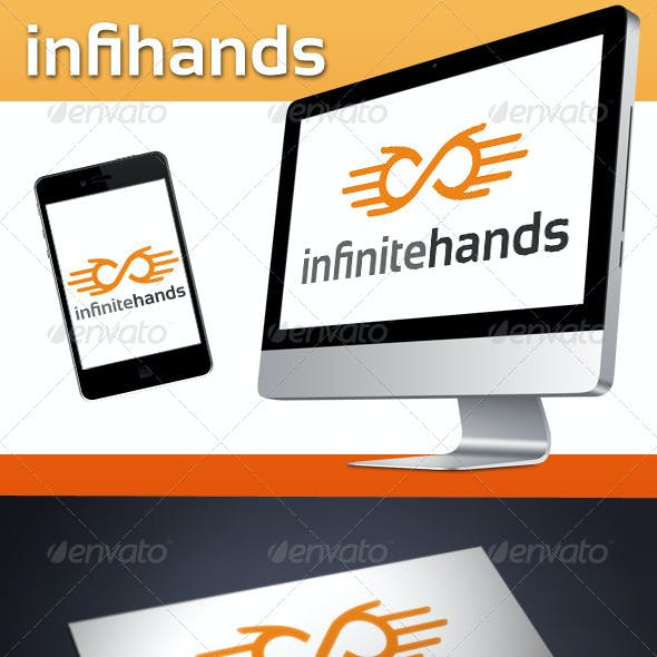 Infinite Hands Logo Template