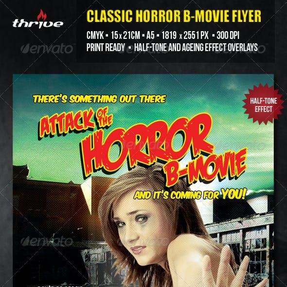 Horror B Movie Flyer - A5