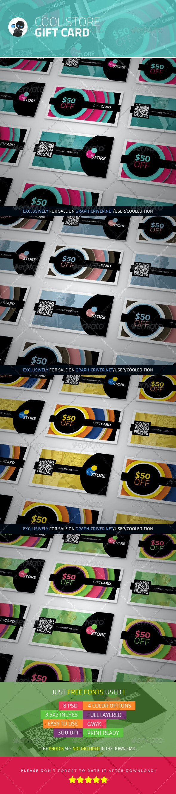 Cool Store - Gift Card - Industry Specific Business Cards