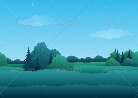 Seamless Background - Summer Landscape - Landscapes Nature