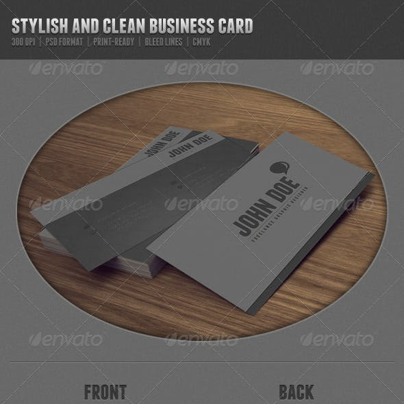 Stylish and Clean Business Card