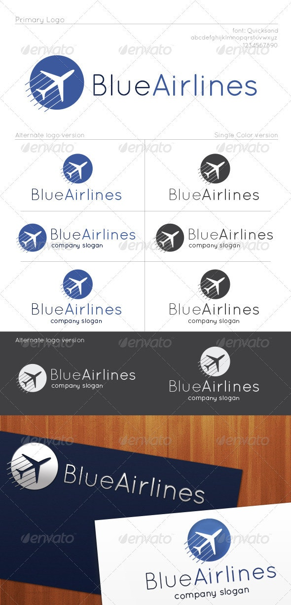 Blue Airlines Logo - Symbols Logo Templates