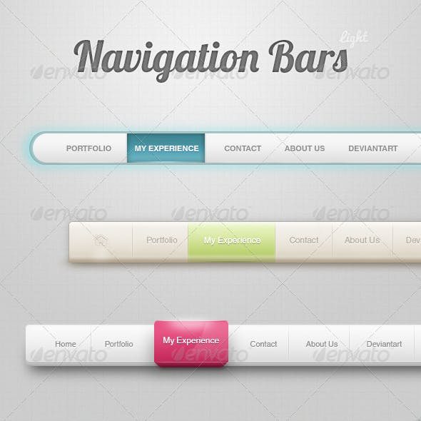 Navigation Menu - Light