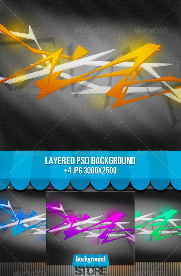 Spiky Abstract Background - Abstract Backgrounds