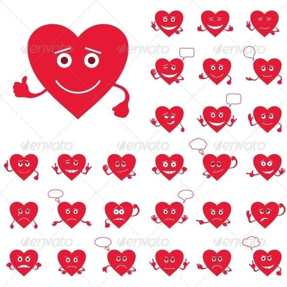 Valentines Day Heart Smileys - Valentines Seasons/Holidays