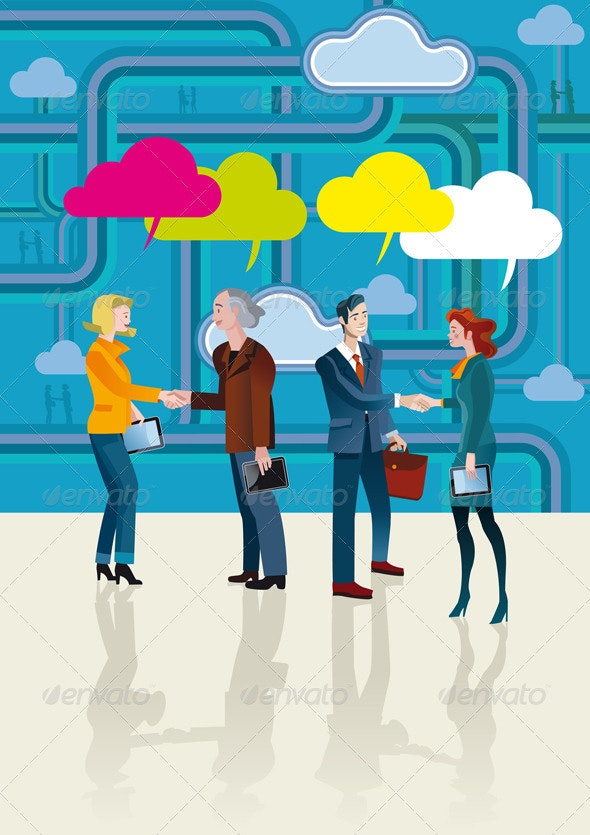 Business People Communication - Backgrounds Business