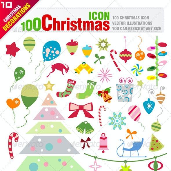 100 Christmas Icons