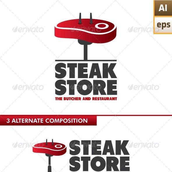 Steak Store Logo