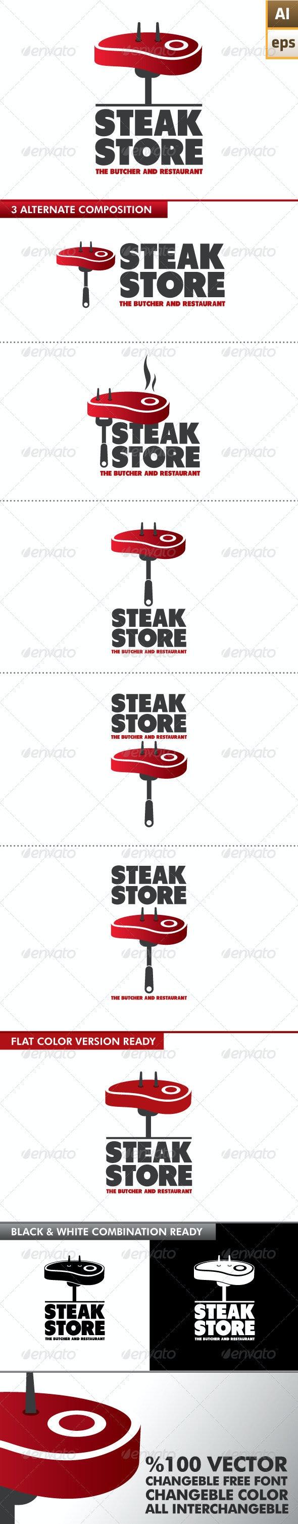 Steak Store Logo - Food Logo Templates