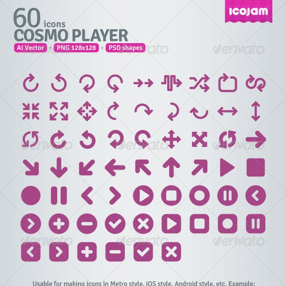 60 AI and PSD Player Icons