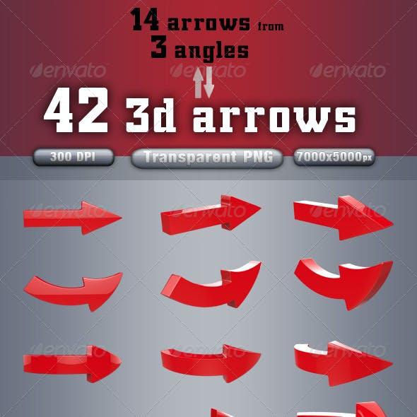 3d Arrows pack