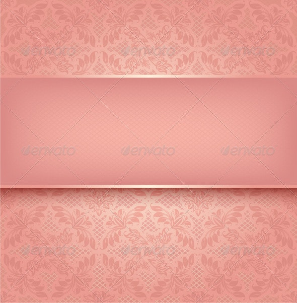 Pink Floral Background - Backgrounds Decorative
